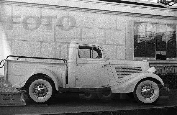Пикап ГАЗ-М415, павильон Механизация и электрификация сельского хозяйства СССР, 1939 г.
