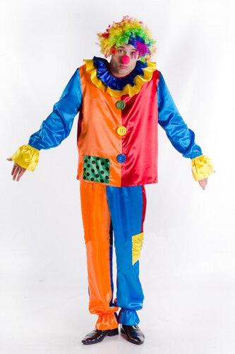 Мужской карнавальный костюм Клоун