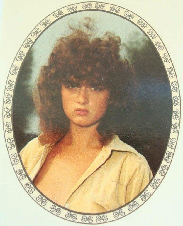 Переводная картинка из ГДР девушка 1989