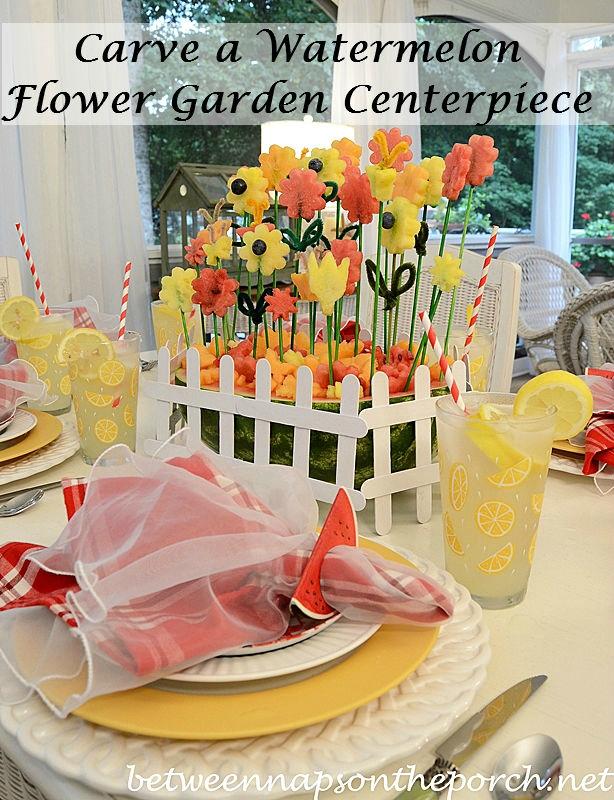 Арбузные цветы для праздничного стола