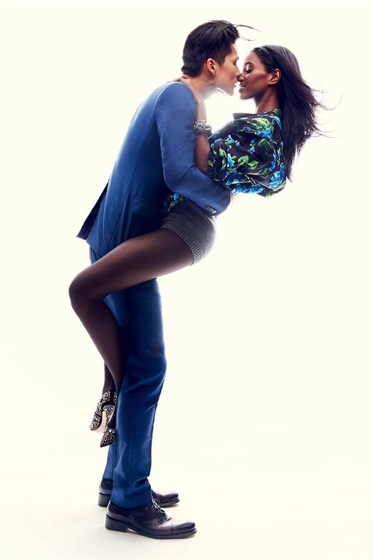 Сенайт Гиди и Даэ На / Senait Gidey & Dae Na - Romeo & Juliet by Max von Gumppenberg & Patrick Bienert in Harper's Bazaar US november 2013