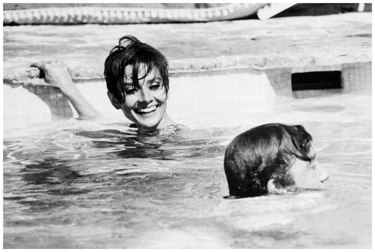 1966.Актриса Одри Хепберн и актер Альберт Финни