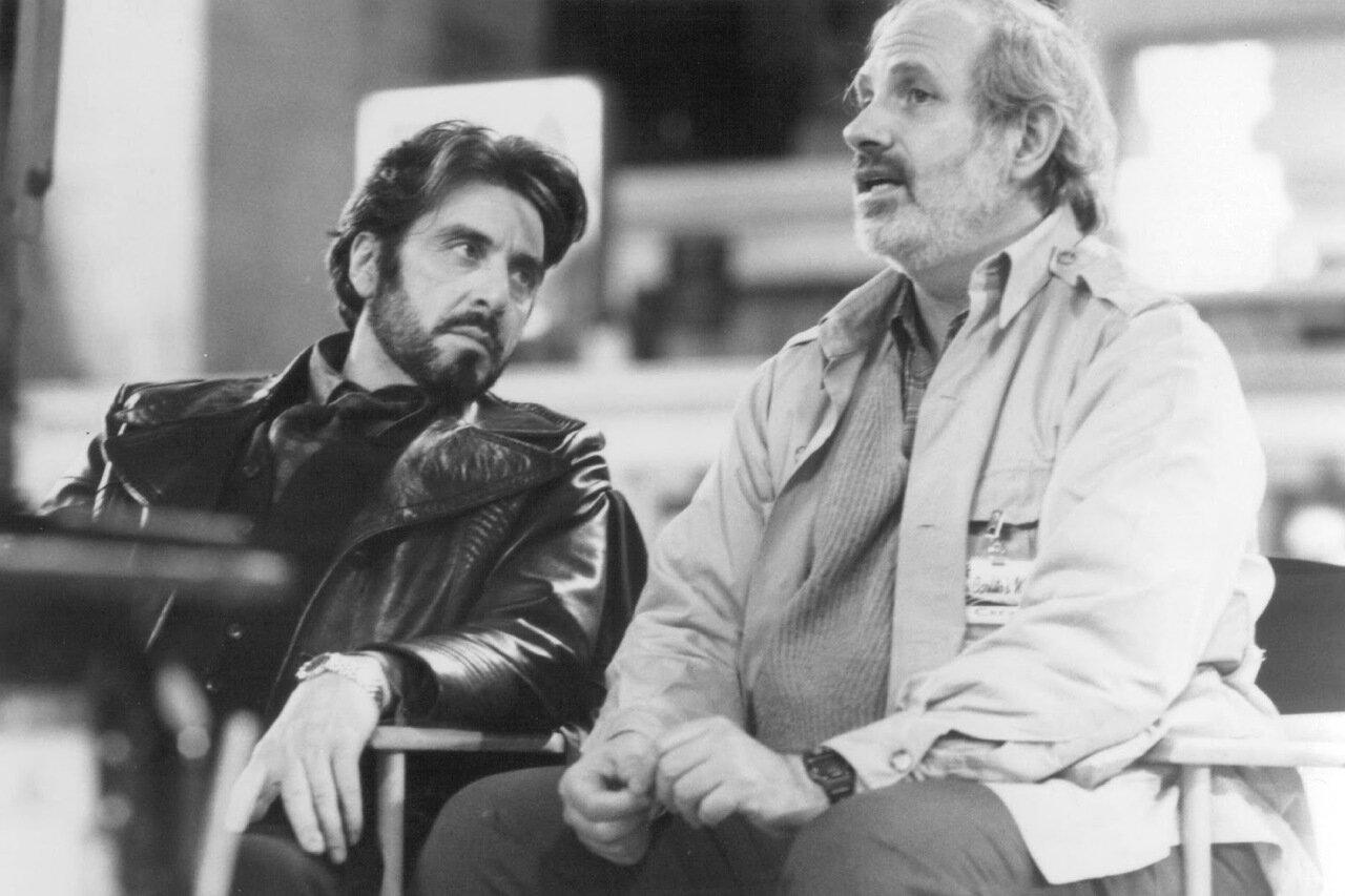1993. Аль Пачино и Брайан Де Пальма на съемках фильма «Путь Карлито»