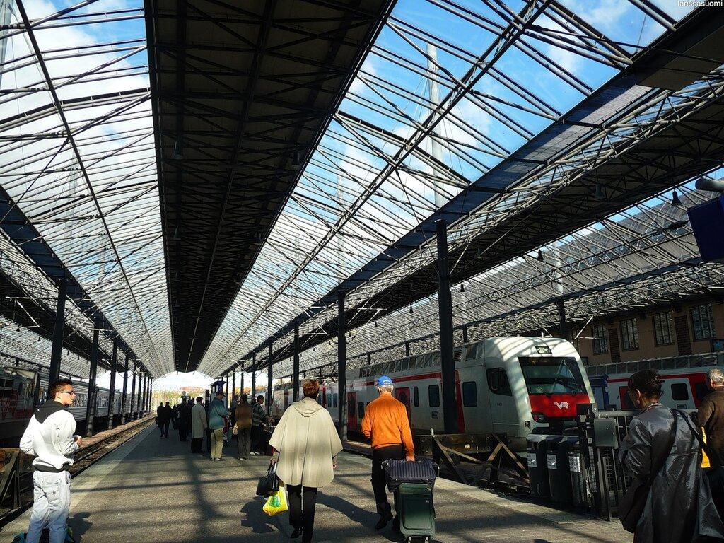 Хельсинки, ж/д вокзал.