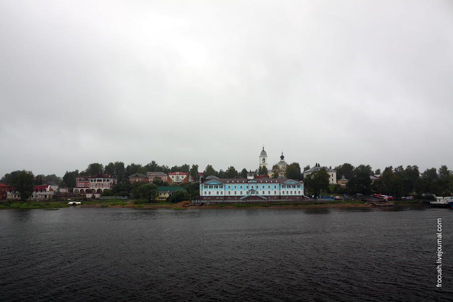Левый берег Волги. Город Мышкин