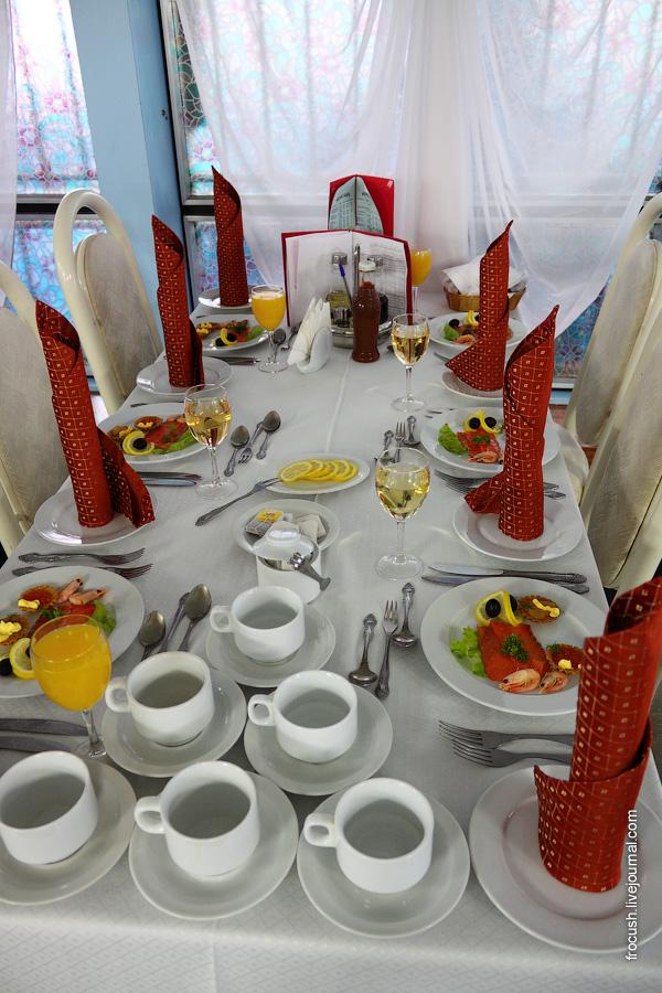 «Капитанский» ужин на теплоходе «Сергей Кучкин»