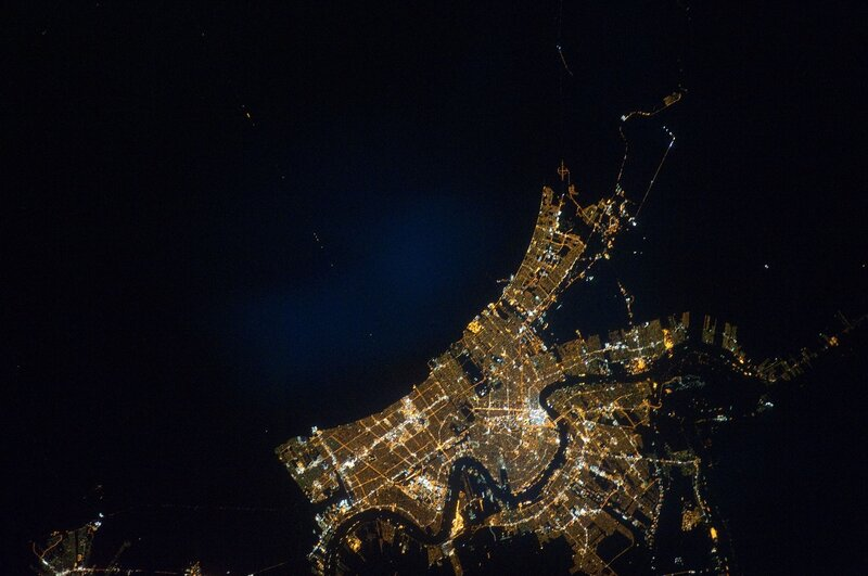 Новый Орлеан с борта МКС