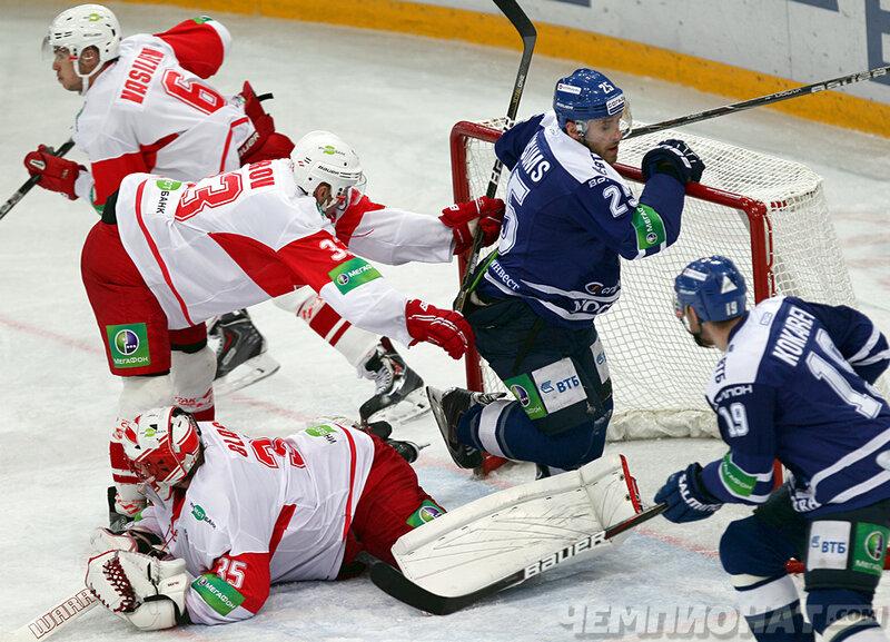 «Динамо» vs «Спартак» 2:1 чемпионат КХЛ 2013-2014 (Фото)