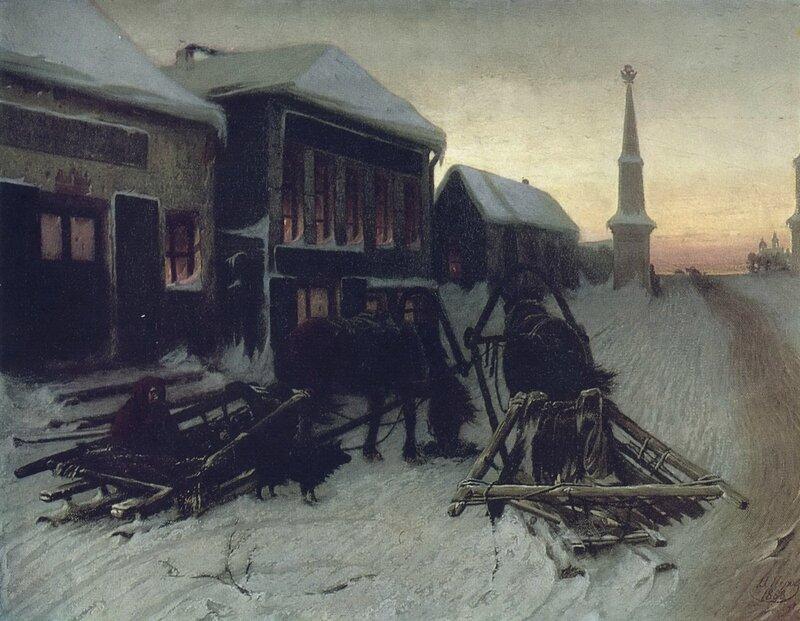 Последний кабак у заставы. 1868 Х., м. 51,1х65,8 ГТГ.jpg