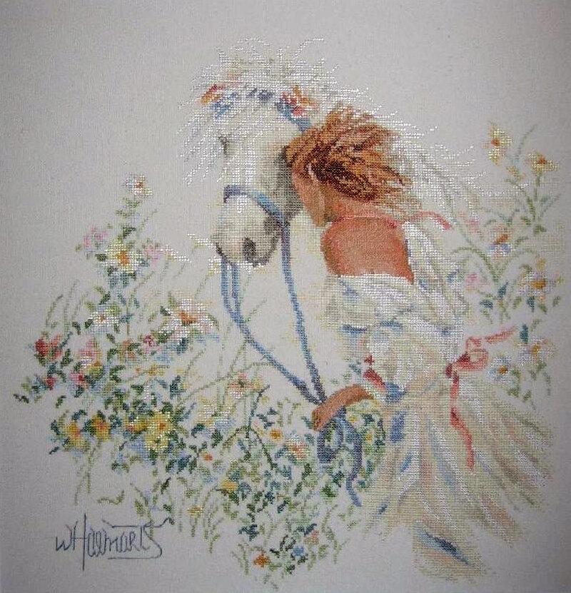 Девушка с лошадью схема фото 29