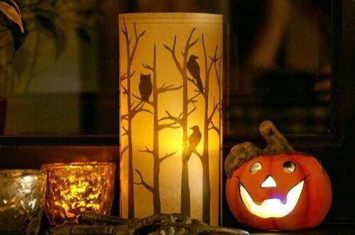 Подсвечник на Хэллоуин