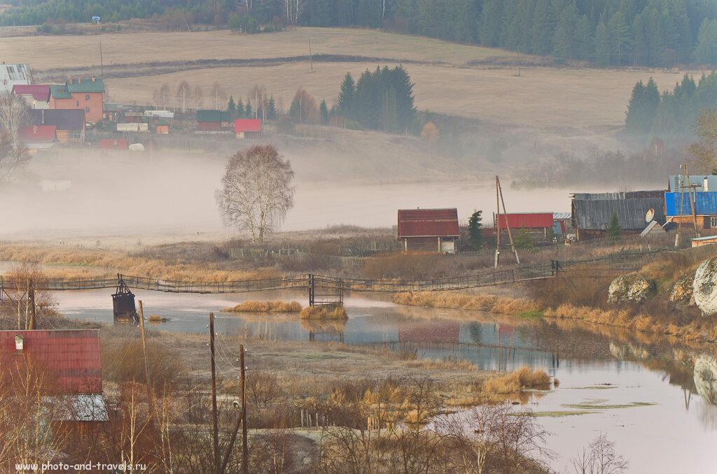 Пасторали в деревне Коуровка... Не хватает леса на заднем плане. Этот пейзаж я тоже фотографировал на Никон Д5100 и телевик Никон 70-300.