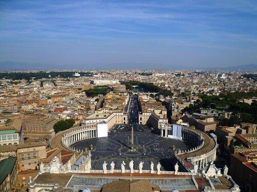 Ватикан. Рим. Вид с купола Собора Святого Петра (The Vatican. Rome. View from the dome of St. Peter's Basilica).