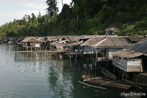 Рыбацкая деревня на Тогеанах