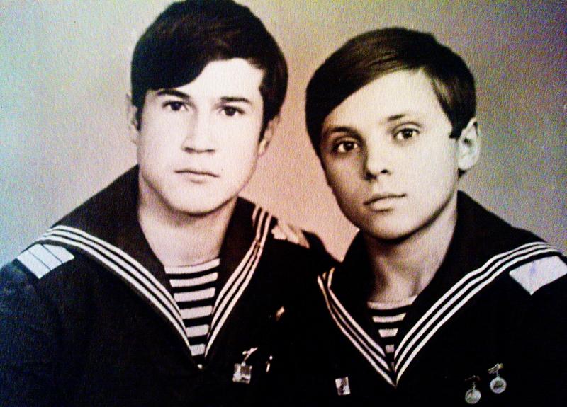 Саша Бизяев и Дима Борисов. 1973.JPG