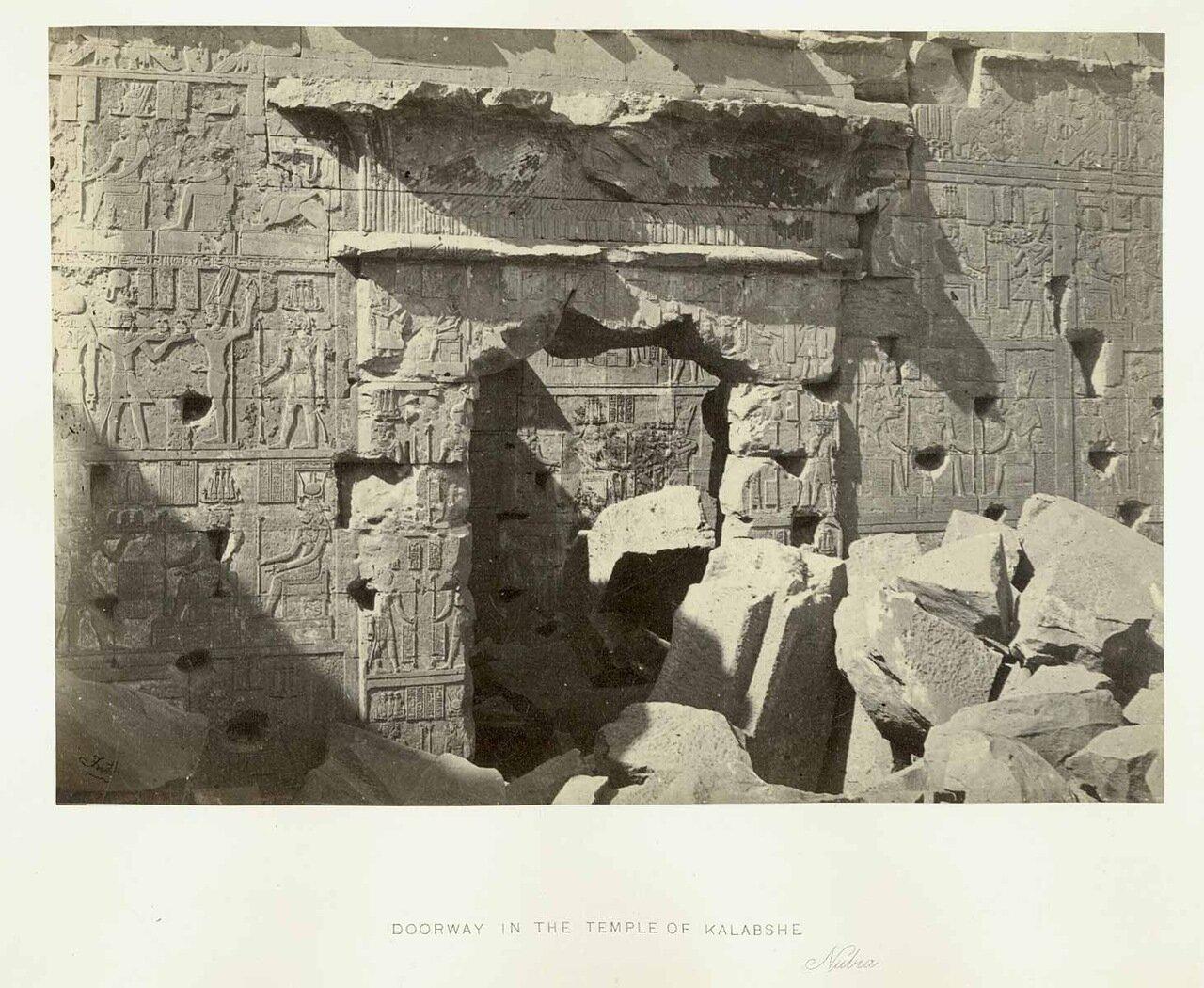 Храм Калабша. Дверной проем. 1862