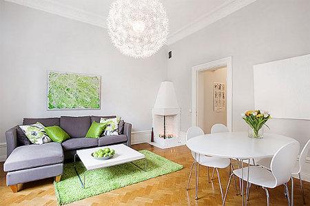 The color lavender interior