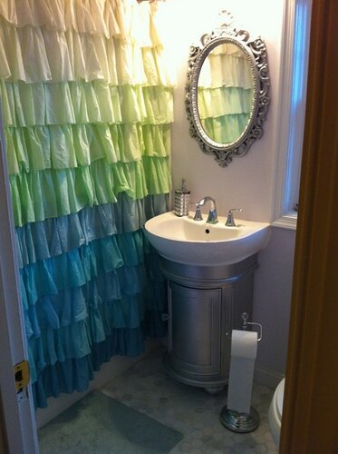 handmade decor in interior bathroom