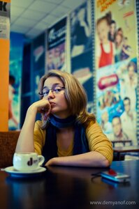 Скептичная блондинка девушка, портрет, Cat_named_cat, Лена, фотосессия