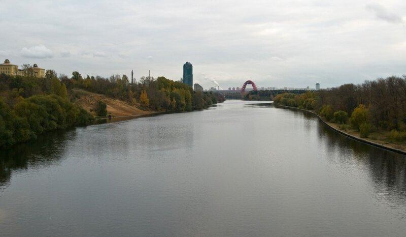Вид на Москву-реку со Строгинского моста