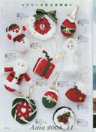 Christmas Craft Ideas Knitting Christmas Tree Ornaments