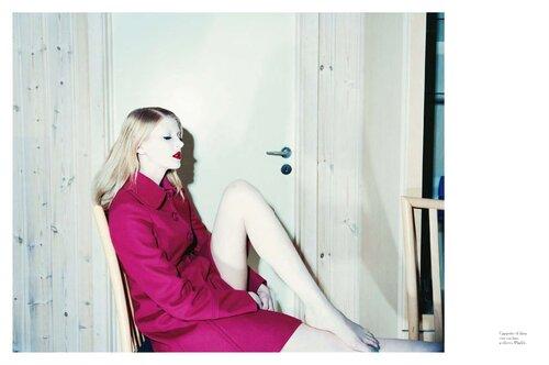 необычный модели мода fashion story fashion  В синем свете