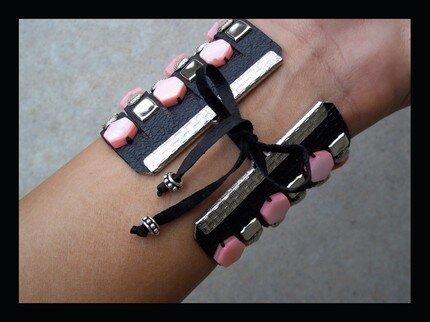 Кожанные браслеты