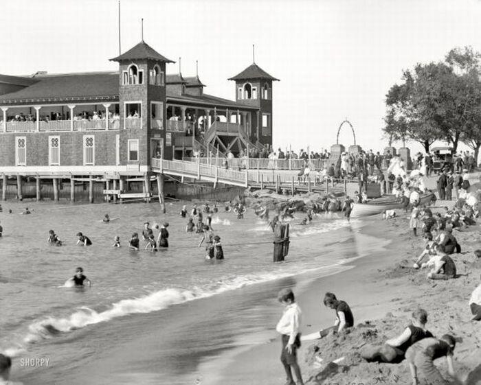 ретро фото пляж