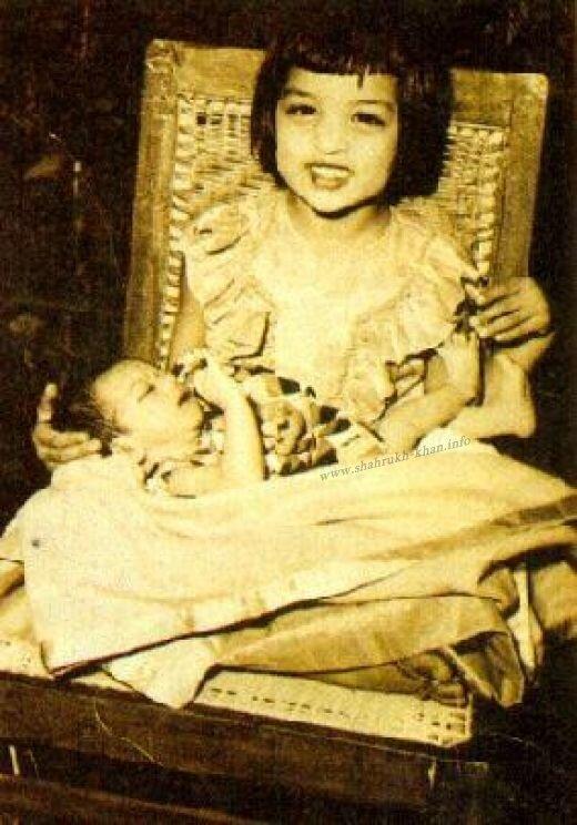 Маленький Шарукх Кхан и его сестра Шехназ
