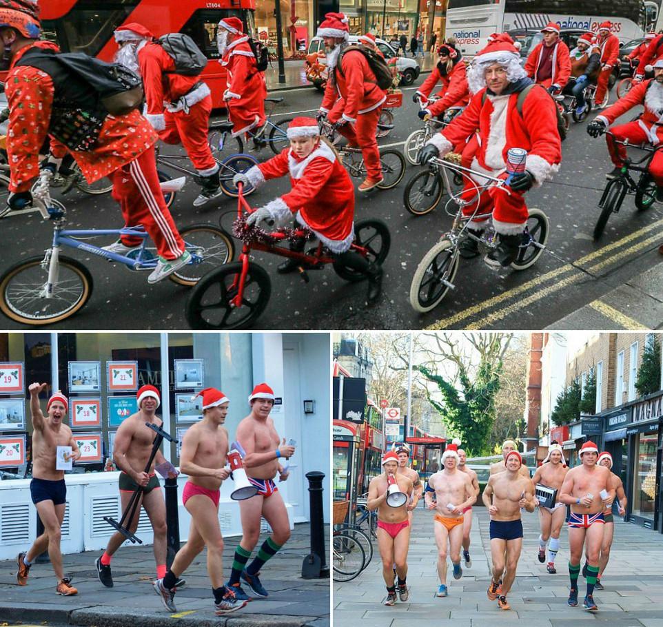 Бегуны и велосипедисты на улицах Лондона собирали деньги на благотворительность