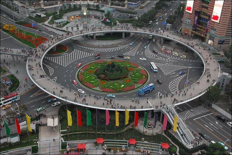 Пешеходный мост в Китае