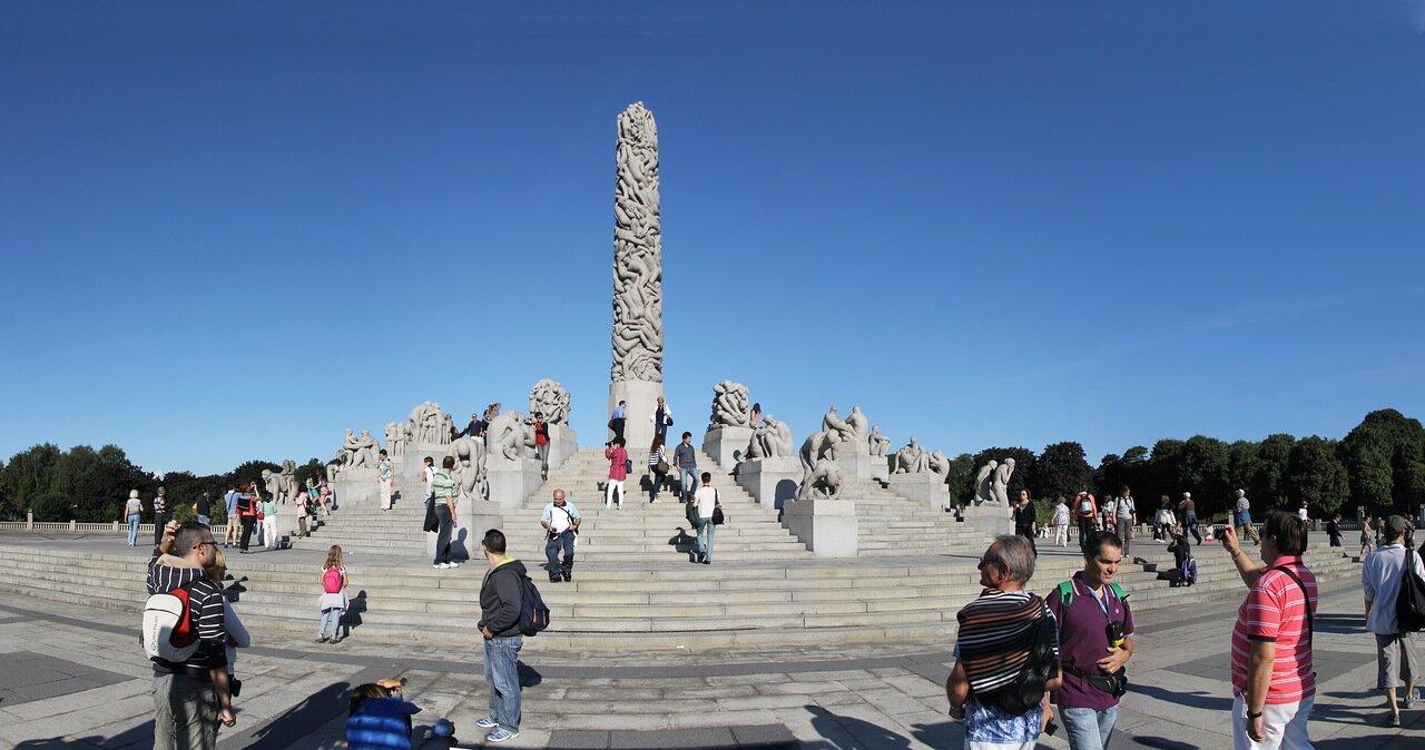 Монолит Вигеланда (Monolitten), Осло, panorama