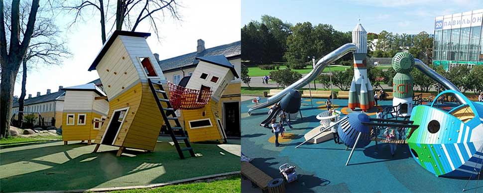 Креативные площадки для детей от датских специалистов (21 фото)