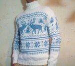 свитер с оленями ,купить