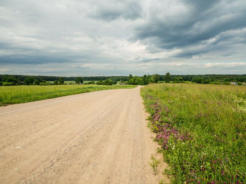 Дорога на д. Шеметово и вглубь лесов.