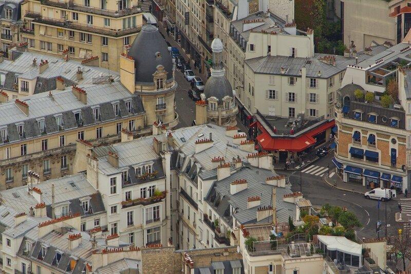 Париж - Виды с Эйфелевой башни (3-й этаж, крупные планы)