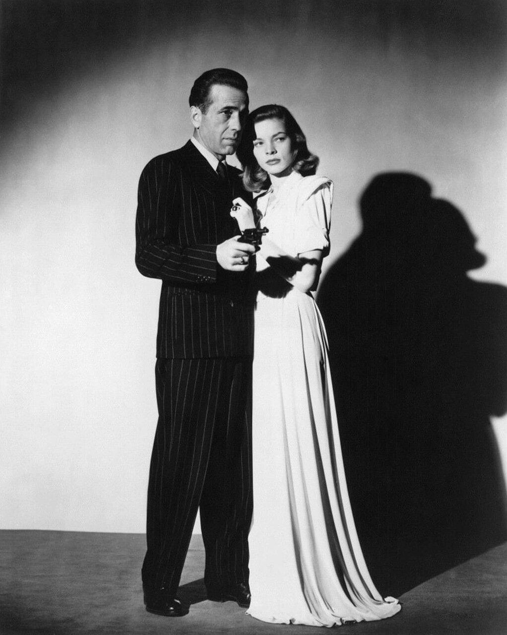 1946. Хамфри Богарт и Лорен Бэколл в «Большом сне»