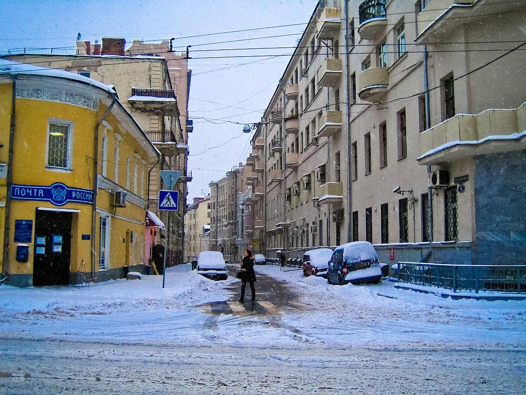 Барыковский переулок, слева - Жилой дом, конец XVIII - начало XIX вв.
