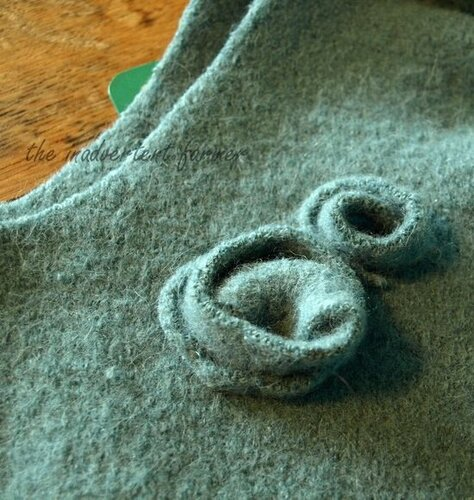 Wool sweater bag roses first.