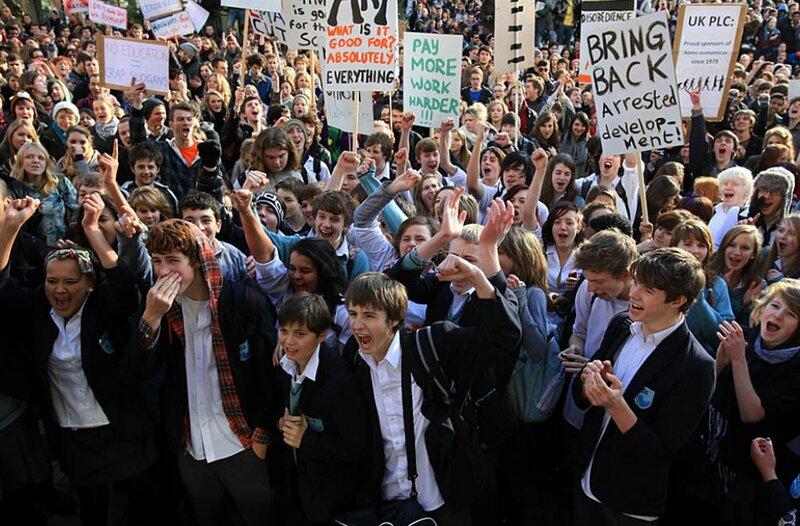 Студенты против полиции (24 ноября, Лондон)