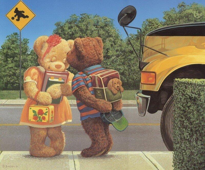 Художник Джон Биндон (John Bindon): мир детства, мир мишек Тедди.