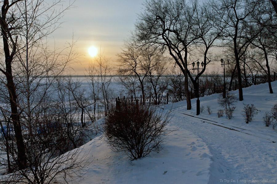 7. На берегу замёрзшего Амура.