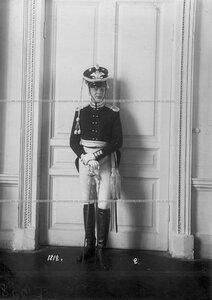 Офицер батальона в форме образца 1812 года.