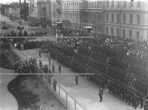 Построение солдат батальона на открытии памятника подвигам Саперного батальона .
