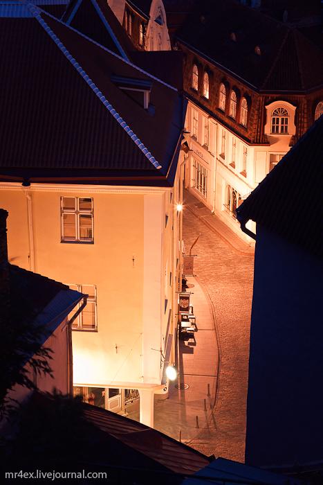 Эстония, Ночной Таллин, Старый город, Ратуша в Таллине, Raekoda