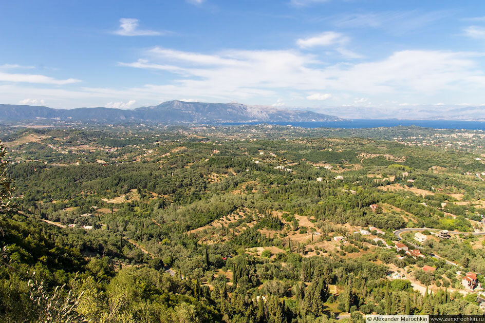 Вид с Трона Кайзера (фрагмент панорамы)