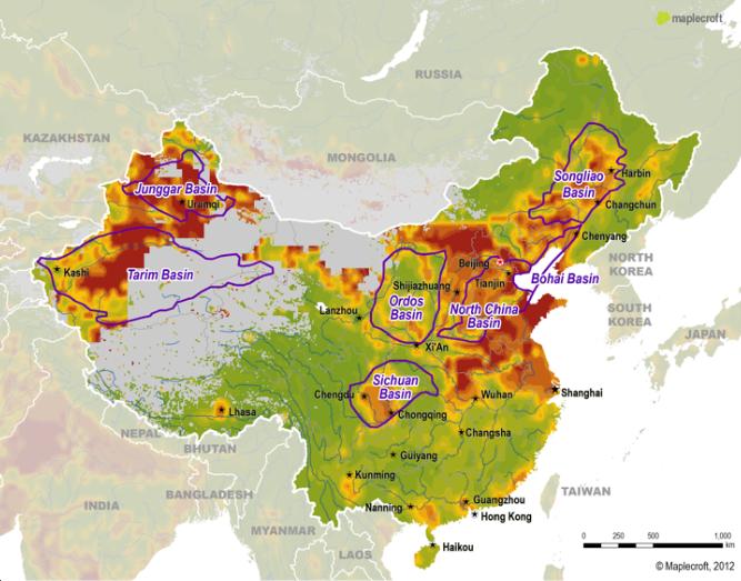 Китай: нефтегазовая отрасль, сланцевый газ, вода, экология. 1