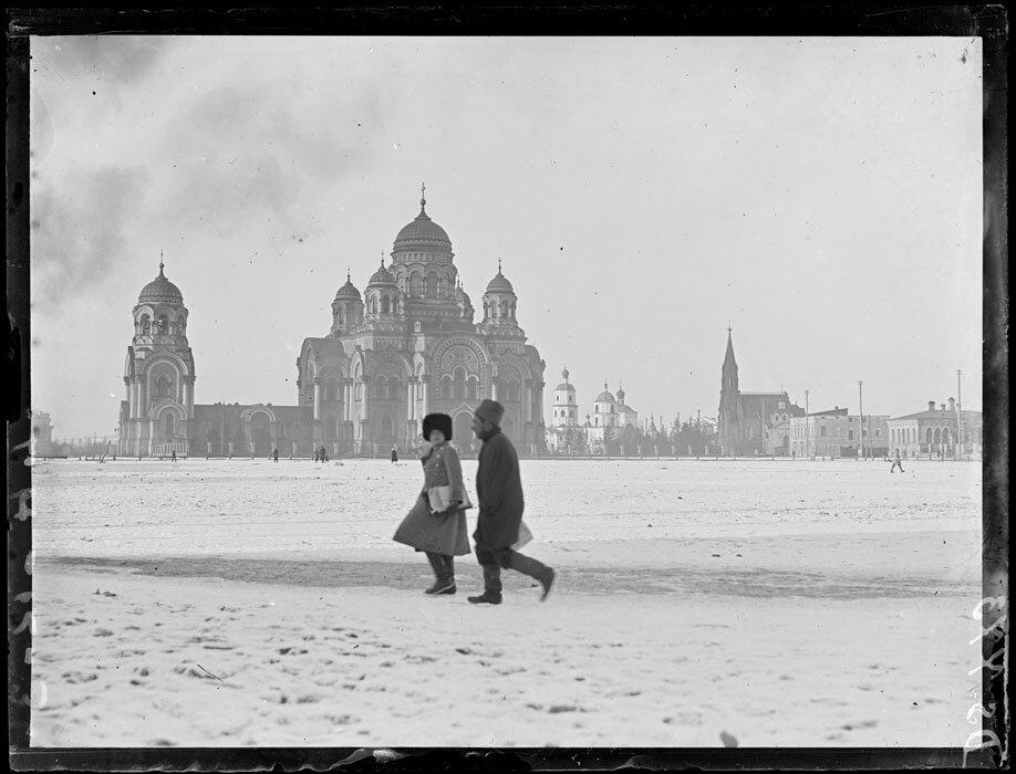 1919. Март. Иркутск. Тихвинская площадь и Кафедральный собор