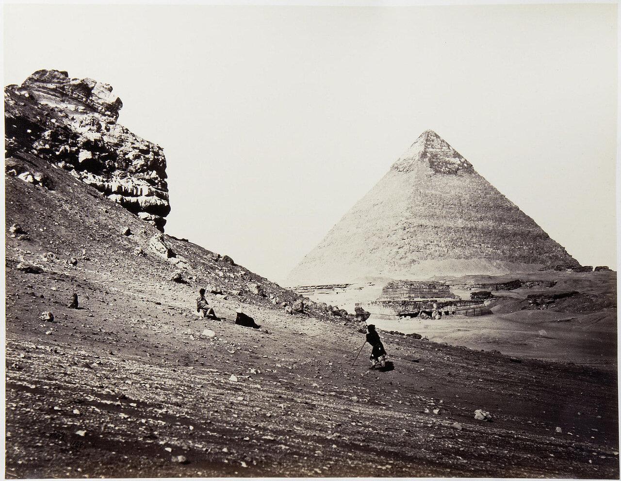 Вторая пирамида с юго-востока, 1858