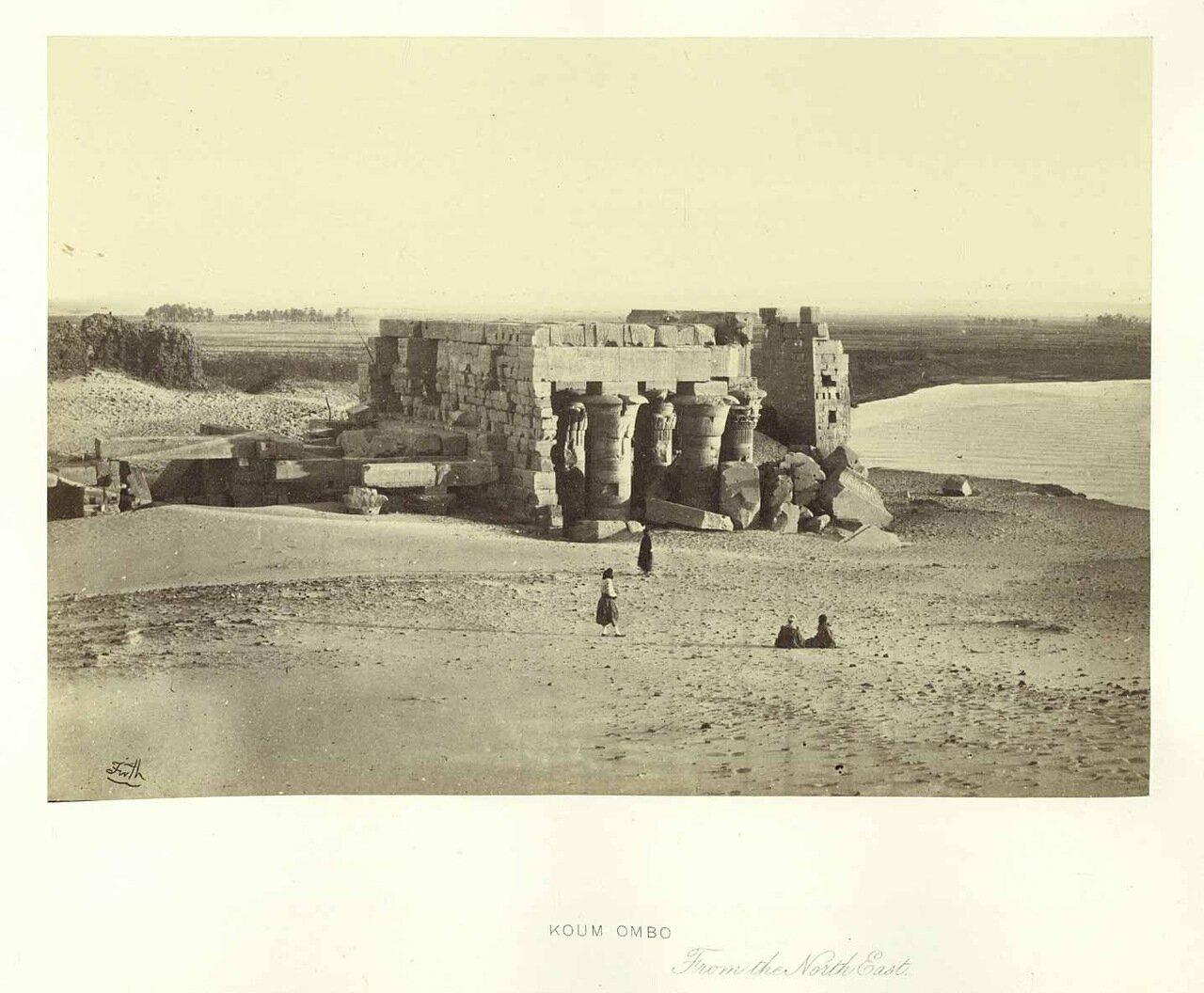 Ком - Омбо. Вид с северо-востока. 1862